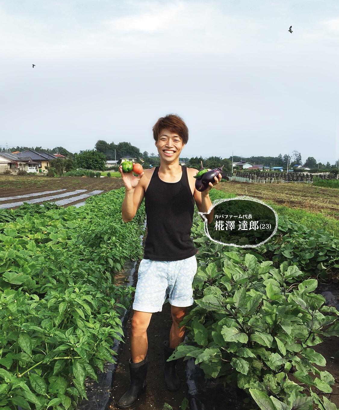 カバファーム代表 椛澤 達郎(21)